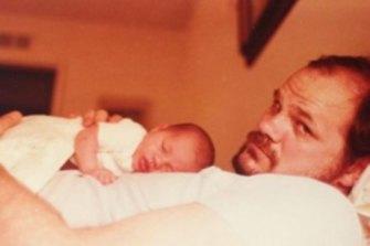 Thomas Markle with baby Meghan Markle, circa 1981.