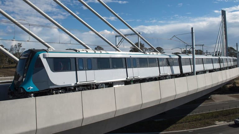 The metro line includes a 4.5-kilometre viaduct and cable-stayed bridge.