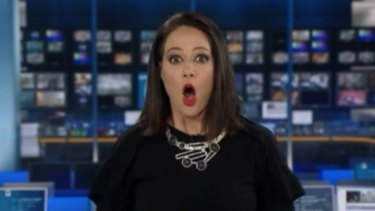 Natasha Exelby after her on-air gaffe in 2017.