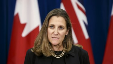Chrystia Freeland, Canada's minister of foreign affairs.