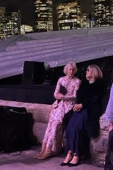 Ms Broadbent with her friend Carla Zampatti at La Traviata.