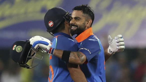 India's Kohli, Rohit hit big tons to flatten West Indies