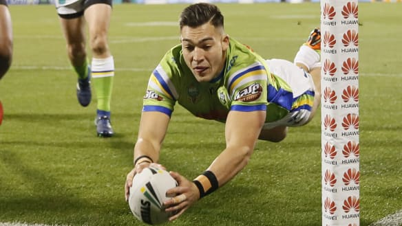 Nick Cotric flies back to the Canberra Raiders wing