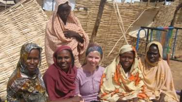 Ruth Jebb, centre, working in Darfur, Sudan.