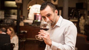 Florian Valieres, head sommelier of Melbourne's Syracuse Wine Bar Restaurant.