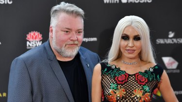 Kyle Sandilands and Imogen Anthony at last year's ARIAs.