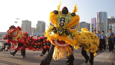 Lunar New Year celebrations in Melbourne.