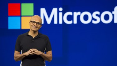 Since Satya Nadella became chief executive in 2014, Microsoft's stock price has nearly tripled.