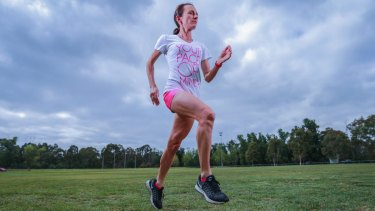 Pace setter: Former Olympian Lisa Weightman in training.