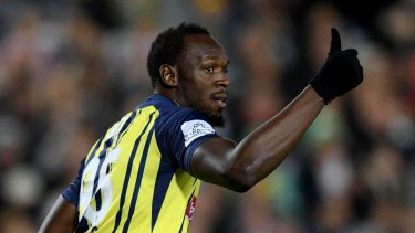 Usain Bolt during his time with the Mariners.