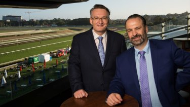 Movers and shakers: Peter V'landys and former Australian Turf Club chief Darren Pearce.
