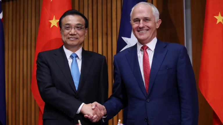 Former prime minister Malcolm Turnbull and Premier Li Keqiang of China agreed not to steal commercial secrets.