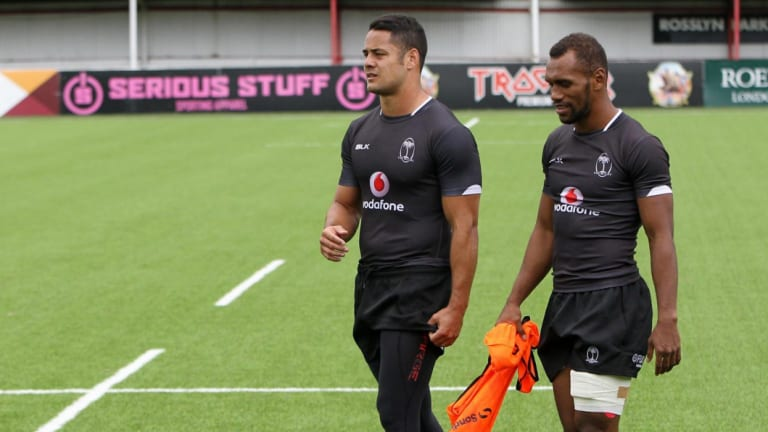 Tell him he's dreaming: Jarryd Hayne training with the Fiji Sevens side before returning to the NRL.