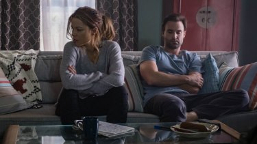 Beckinsale in a scene with her on-screen husband, played by Australian actor Matt Le Nevez.