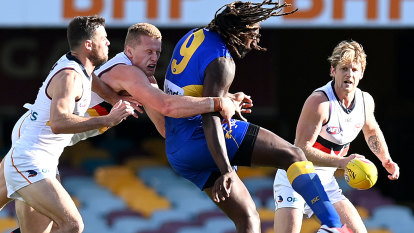 AFL 2020 live updates: West Coast Eagles kick clear of winless Adelaide Crows at the Gabba