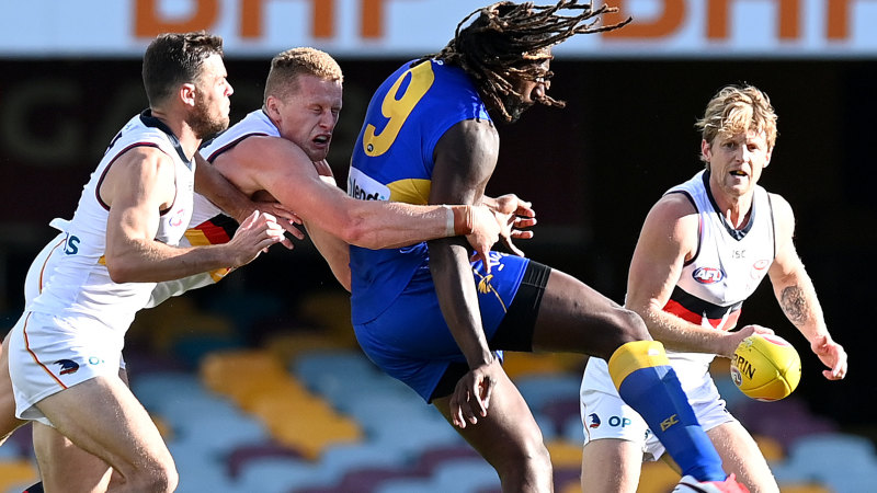 AFL 2020 live updates: West Coast Eagles open up commanding lead against winless Adelaide Crows at the Gabba – The Age