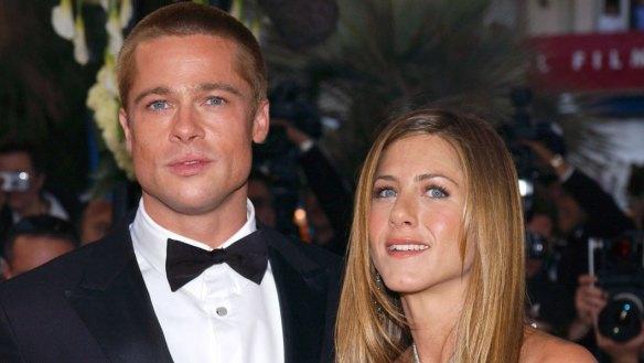 Still Friends: Brad Pitt attends Jennifer Aniston's 50th birthday party