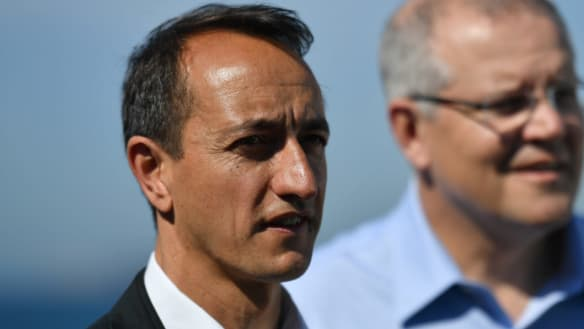 My cuppa with Dave Sharma while storm brews for Libs