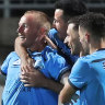 Milestone man Grant scores as Sydney FC stops the rot with much-needed win