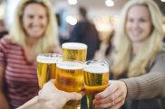 airport indulgence beer cheers