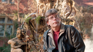 Stephen King on the set of Rose Red.