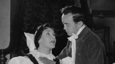 Victor Franklin, with Marie Collier, in one of his lead roles.
