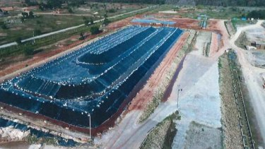 The radioactive waste from Lynas Corp's Malaysian operations is currently being stored on-site.