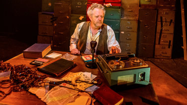 Jonathan Biggins finely calibrates the pathos of Krapp as he picks his way through the rubble of dashed expectations.