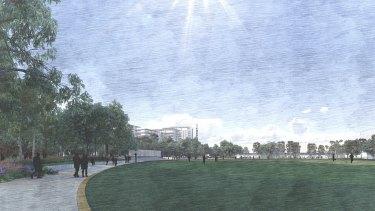 Oval western edge facing Bob Hawke college.
