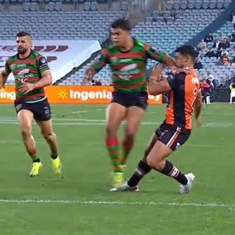 Tigers winger David Nofoaluma is adamant Latrell Mitchell's four-week suspension was completely warranted.