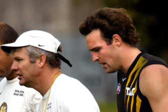Danny Frawley and Brad Ottens in their time together at Tigerland.