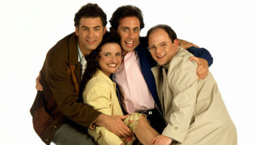 Cheesy picture aside, Seinfeld clearly wins the debate.