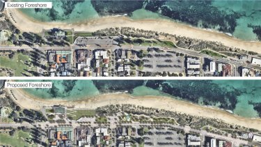 The plan includes a civic precinct and redeveloped foreshore.
