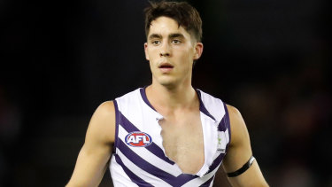 Fremantle's Adam Cerra has his sights set on a move to the Blues.