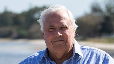 Perennial political aspirant and businessman Clive Palmer amassed more than $3 million in donations to his party - all donated by him or his companies.