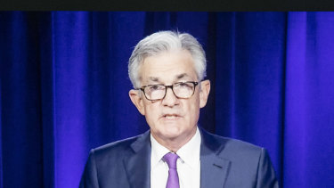 """Effectively what we are saying is that rates will remain highly accommodative until the economy is far along in its recovery,"" Fed Chair Jerome Powell speaking at his virtual news conference."