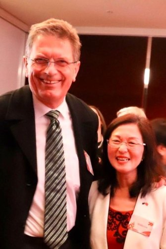 Gladys Liu with Ted Baillieu, for whom she worked during his stint as Victorian premier. Baillieu says she gave him an invaluable entrée to Melbourne's Chinese community. Photo courtesy of Gladys Liu