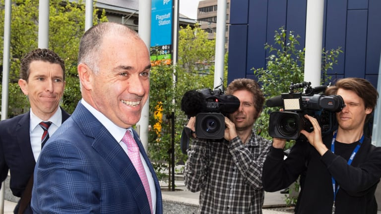 National Australia Bank CEO Andrew Thorburn arrives at the Royal Commission into Misconduct in the Banking, Superannuation and Financial Services Industry, Melbourne, Monday, November 26, 2018. (AAP Image/Ellen Smith) NO ARCHIVING