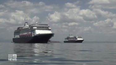 The Zaandam's sister ship, the Rotterdam, has docked alongside the cruise liner as a rescue vessel.
