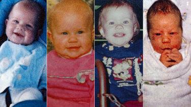 The Folbigg children: Patrick, Sarah, Laura and Caleb.
