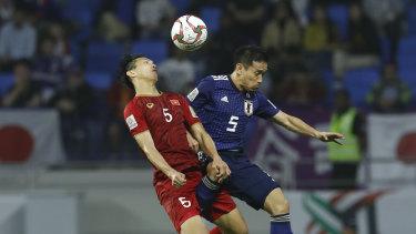 Narrow margin: Japan only just scraped past Vietnam 1-0 in the quarter-finals.