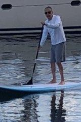 Paddle his way around Sydney Harbour, millionaire property developer Theo Onisforou.