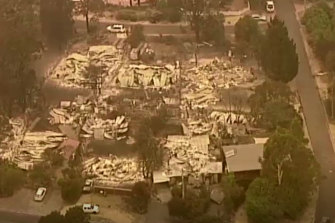 Aerial footage this morning revealed the extent of destruction in Mallacoota.