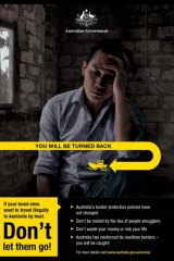 You will be turned back poster by Australian Government in Indonesia.
