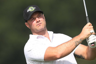 Roosters co-captain Boyd Cordner at The Players Series Sydney Pro-Am at Bonnie Doon Golf Club.