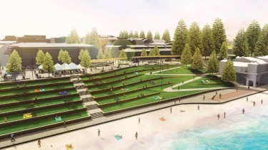 Part of the masterplan includes refreshing Cottesloe's iconic grass tiers.