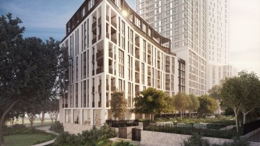 Mirvac's first build-to-rent property at Indigo Pavilions, Sydney Olympic Park.