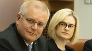 Scott Morrison with Assistant Minister for Women Amanda Stoker.
