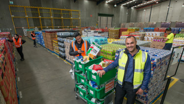Pickers at Woolworths' new Notting Hill facility.