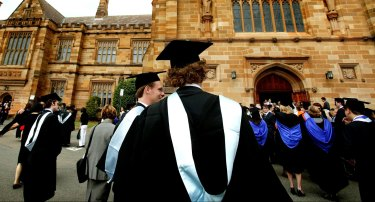With unemployment high many young Australians are opting for higher education.